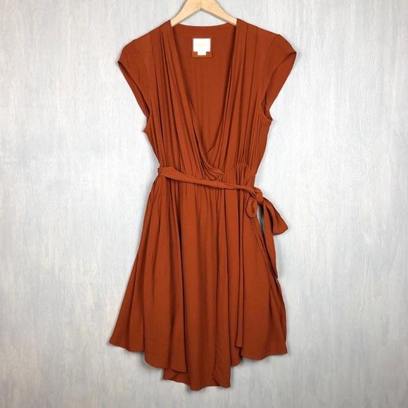 461898fcbf90 Anthropologie Dresses & Skirts - Anthropologie Maeve Noronha wrap dress SP  rust
